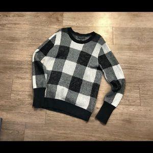 banana republic sweaters nwot black white buffalo sweater poshmark